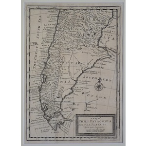 A map of chili, patagonia, part of la plata etc