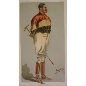 Polo; I Say,  Original antique lithograph, published for Vanity fair, 1901