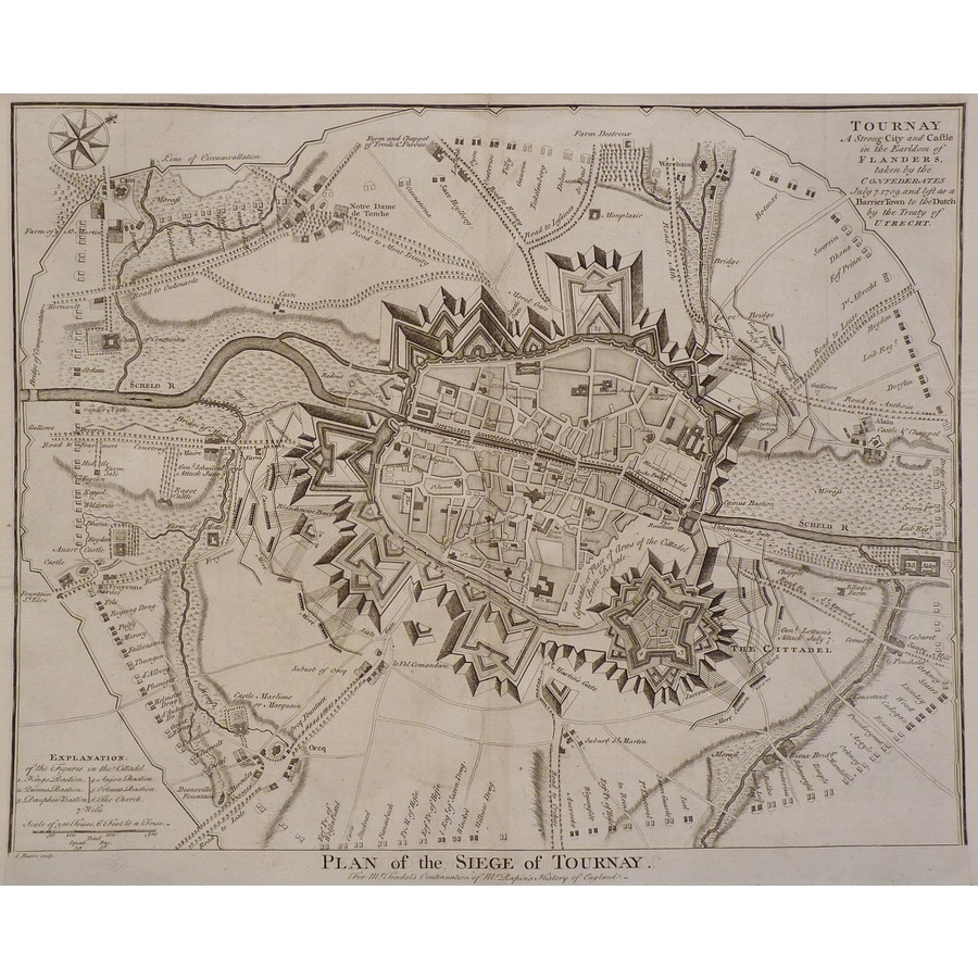 Plan of the siege of tournay | Storey's