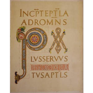 Fragment of a bible written for charles the bold (grandson of charlemagne)