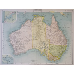 Australia - Original antique map - Published 1900