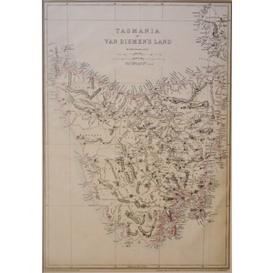 Tasmania or Van Diemen's Land - Original antique map by Edward Weller, 1863