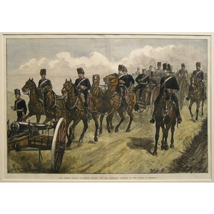 The easter monday volunteer review: the hon. Artillery company on the march to brighton