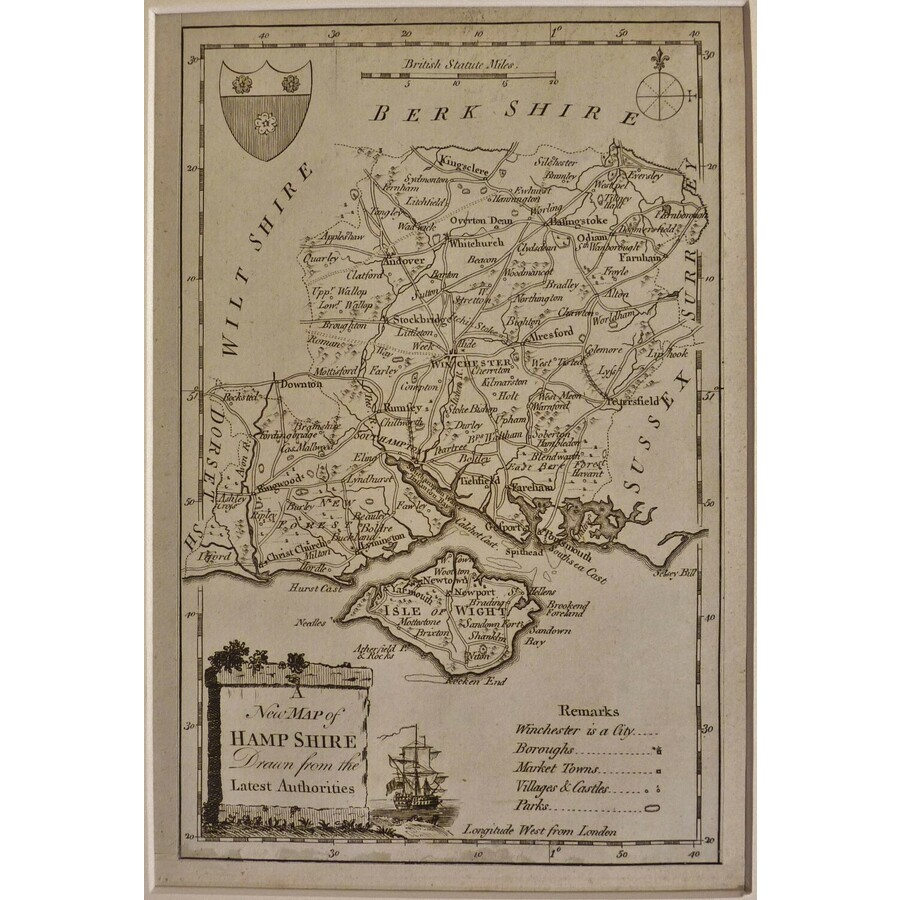 A new map of hampshire | Storey's