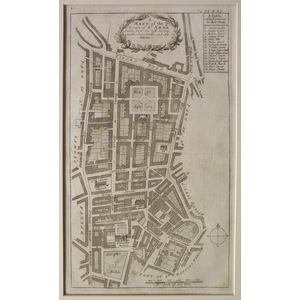 Stow, John (1525 - 1605) - A map of the parish of st anns - Original antique copper-engraved map ...