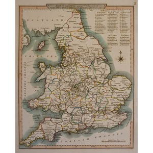 England & wales with the canals, navigable rivers, railroads etc - nightingale, 1816