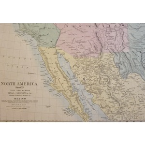 North America, Sheet XV - Utah, New Mexico Texas California and the Northern States of Mexico - O...
