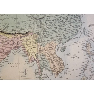 Asia - Original antique map. Engraved by J and C Walker. Published by Edward Stanford, 1874  With...