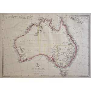 Australia - Original antique map by E. Weller, 1863