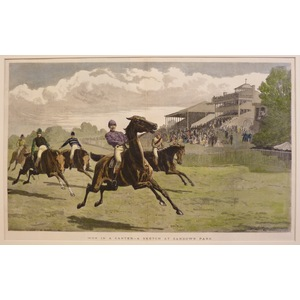 Won in a canter - a sketch at sandown park