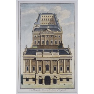 A perspective view of the bank of england