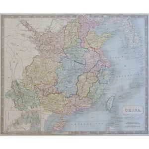 China - Original antique map by Sydney Hall. Steel engraved with original hand colouring. Publish...