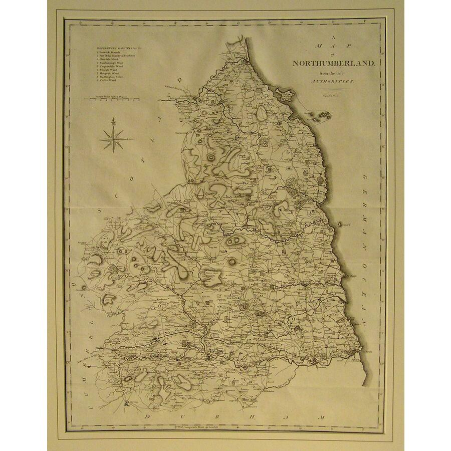 A map of northumberland | Storey's