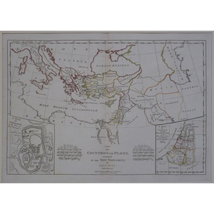 A map of the countries and places mentioned in the new testament