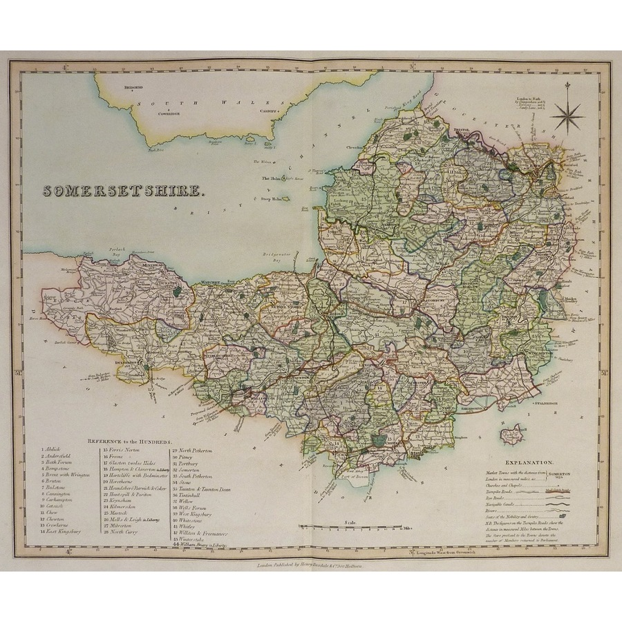 Somersetshire - teesdale, 1851 | Storey's
