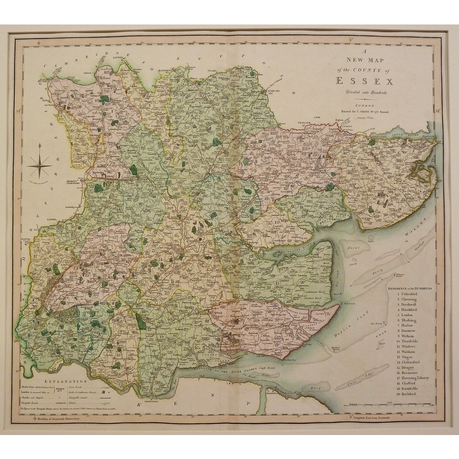 A new map of the county of es. | Storey's
