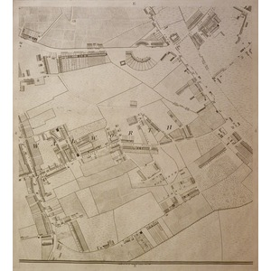 Richard Horwood  ( c,1758 – 1803 ) Sheet 4e - Walworth, Old Kent road. The outcome of nine years ...