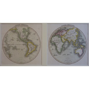 The World - Eastern & Western Hemispheres (Set of 2) - J. Wyld, 1827