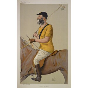 Polo;  Yeoman Like Polo; Original antique lithograph, published for Vanity fair, 1891