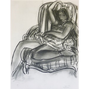 Matisse , Henri - Seated Nude in Chair. Original heliogravure published by Teriade in 1958 for Ve...