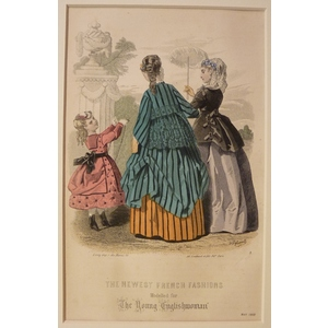 The newest french fashions - plate 5, may 1868