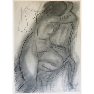 Matisse , Henri - Nude in Repose. Original heliogravure published by Teriade in 1958 for Verve Ma...