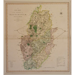 A new map of of the county of nottinghamshire - c. Smith, 1804