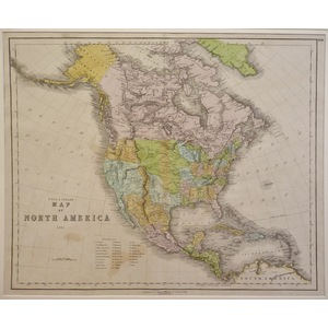 Map of north america, gall & inglis, 1851