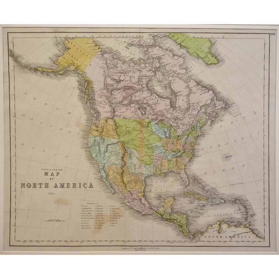 Map of north america, gall & . | Storey's
