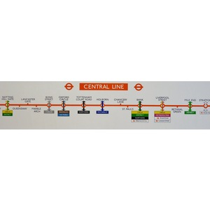Central line - Original London Underground Carriage Map, published 1981