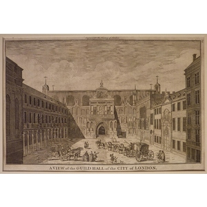 A view of the guildhall of the city of london