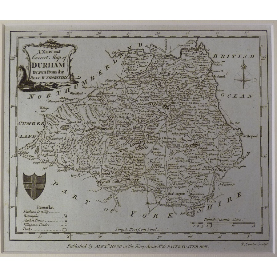 A new map of durham   Storey's