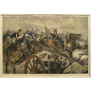 The war in egypt: horse guards charging the enemy guns