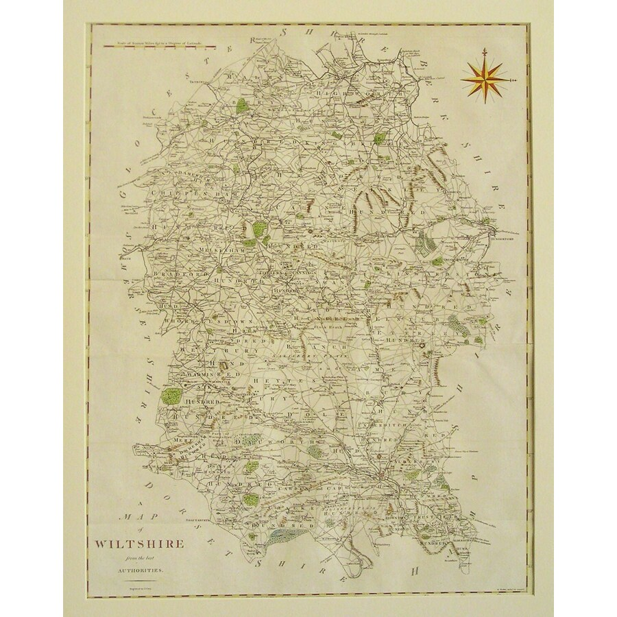 A map of wiltshire | Storey's