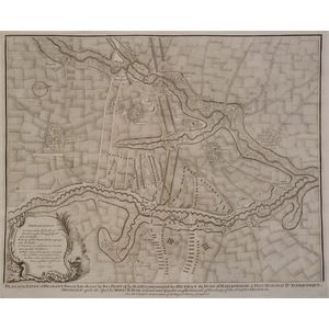 Plan of the lines of brabant forced july 18, 1705 by the army of the allies