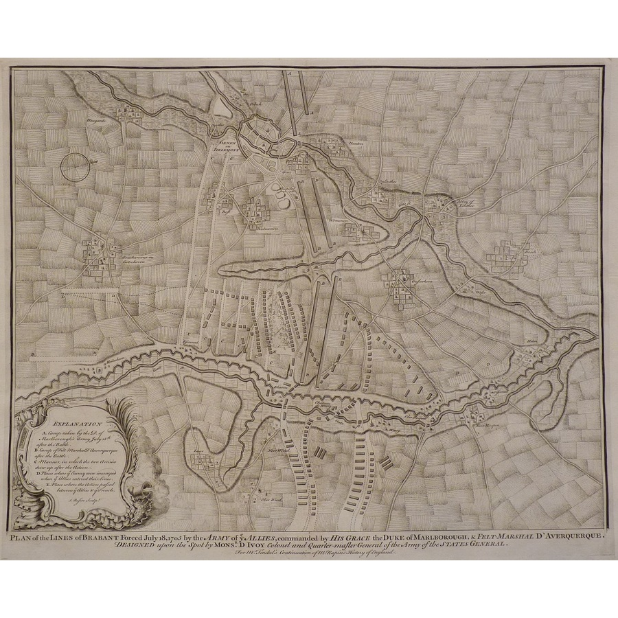 Plan of the lines of brabant . | Storey's