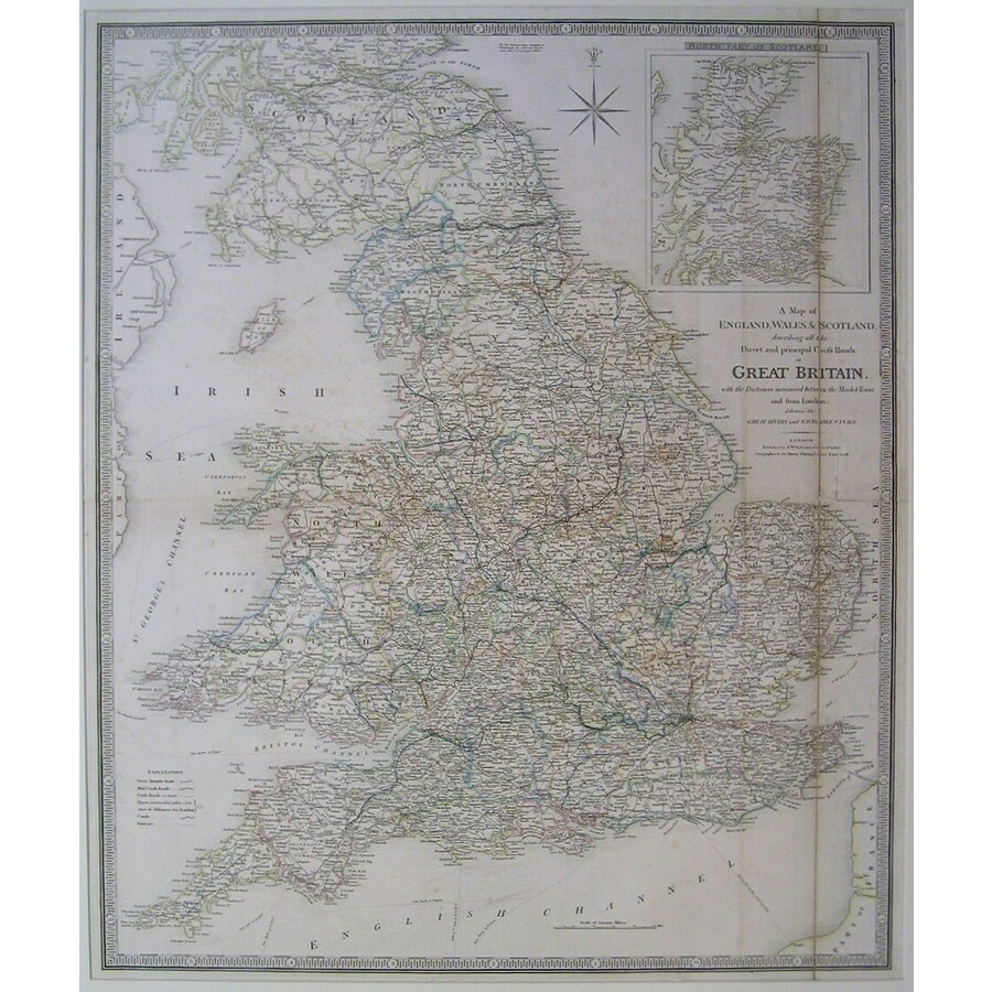 A map of england, wales & sco. | Storey's