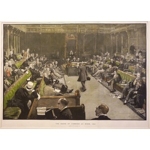The house of commons at work, 1894