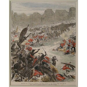 The zulu war: attack on an escort of the 80th regiment at the intombi river