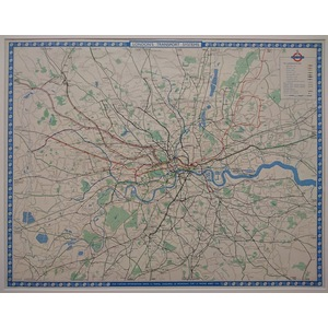 London transport systems - quad-royal poster