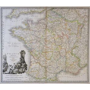 France Divided into Provinces - J. Wyld, 1838