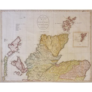 A New and Correct Map of Scotland (in two parts) by J. Cary - Original antique maps published 1797