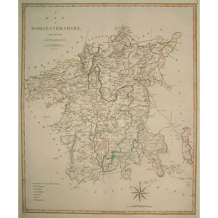 A map of worcestershire   Storey's