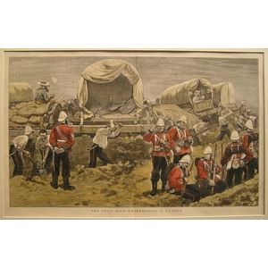 The zulu war - entrenching a laager