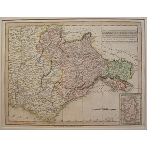 Sardinian dominions with part of the south of france - c. Smith, 1826