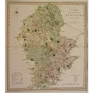 A new map of the county of stafford