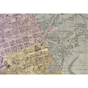 Edinburgh, Plan of - Original antique map. Published by G.W. Bacon, 1881 for the