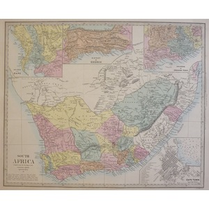 South Africa - Original antique map. Engraved by J and C Walker. Published by Edward Stanford, 18...