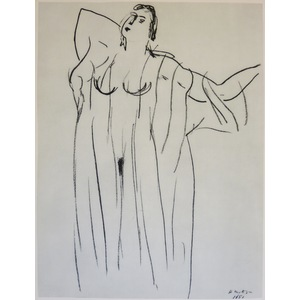 Matisse , Henri - Nude in Gown. Original heliogravure published in 1958 by Teriade for Verve Maga...