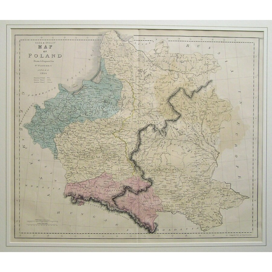 Gall & inglis map of poland | Storey's